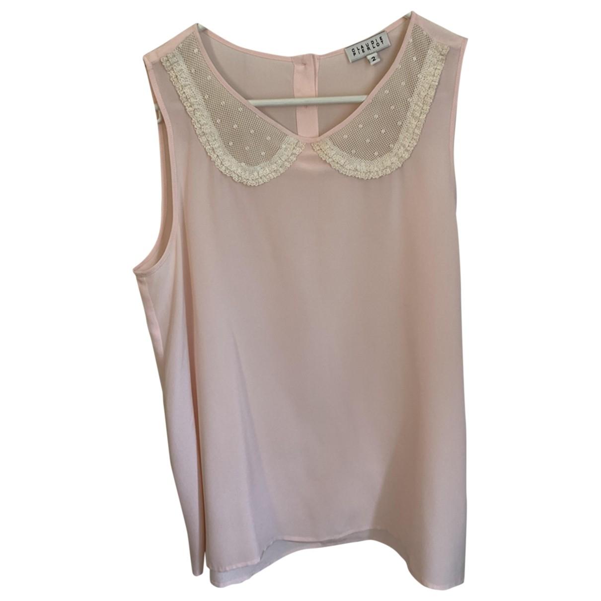 Claudie Pierlot - Top   pour femme en soie - rose