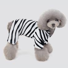 1 Stueck Hund Pajama mit Zebra Streifen