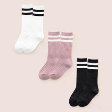 3 Paare Kinder Socken mit Streifen
