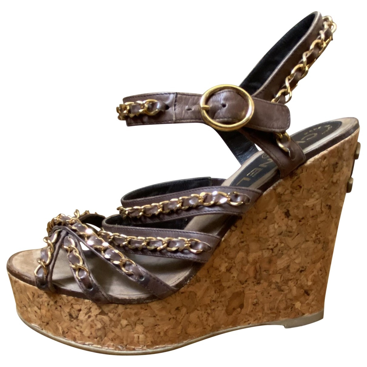 Chanel \N Brown Leather Sandals for Women 36.5 EU