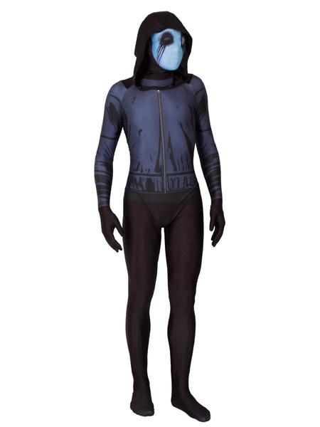 Milanoo Disfraz Halloween Traje de fantasma de Halloween Lycra Spandex Leotard Jumpsuit Carnaval Halloween