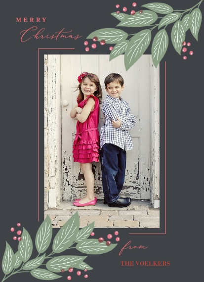 Christmas Photo Cards Mail-for-Me 7x10 Seal & Send Cards, Card & Stationery -Merry Christmas