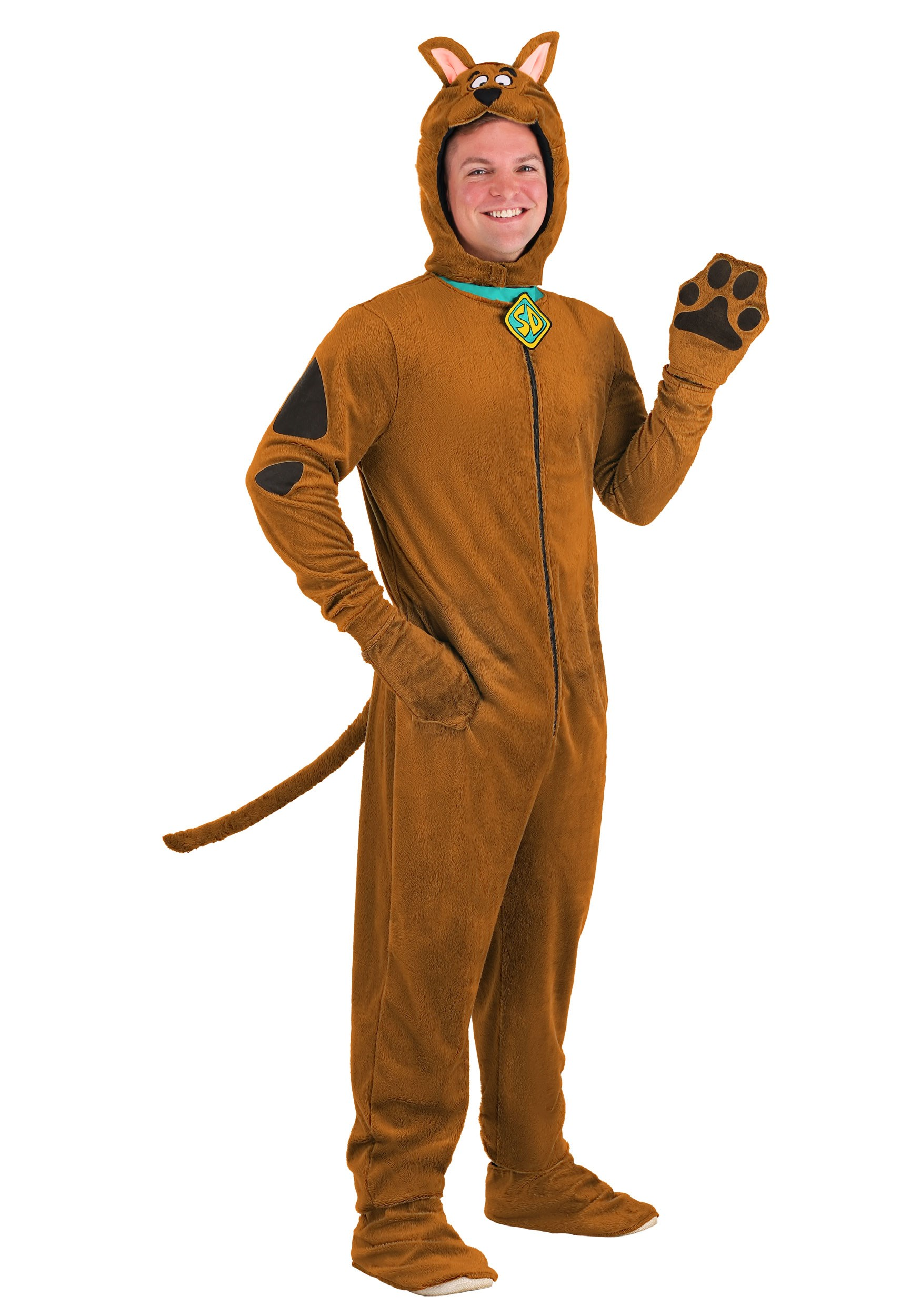 Deluxe Scooby Doo Costume For Adults