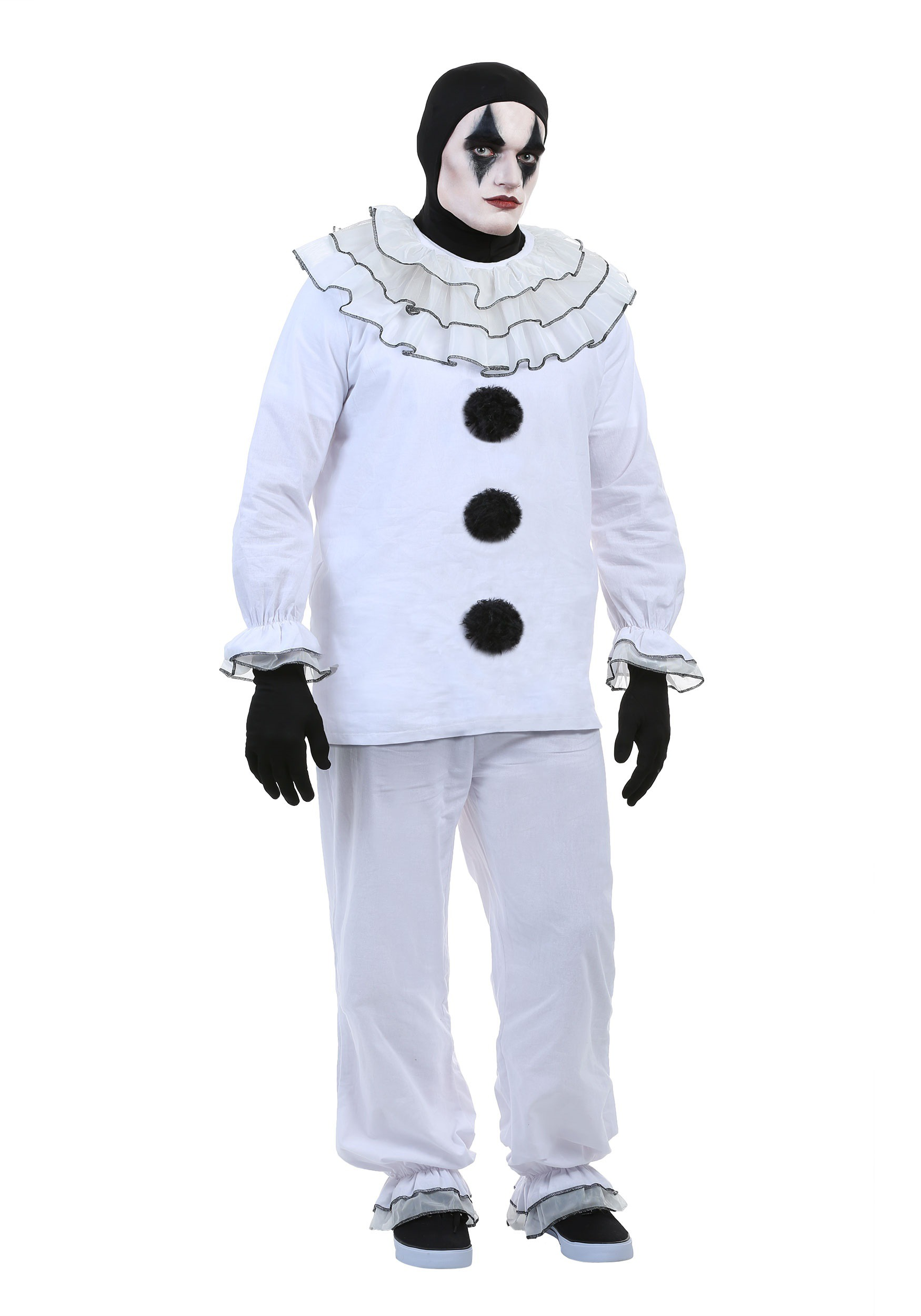 Mens Vintage Pierrot Clown Costume