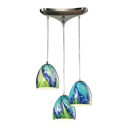 31445/3TB Colorwave Collection 3 Light chandelier in Satin