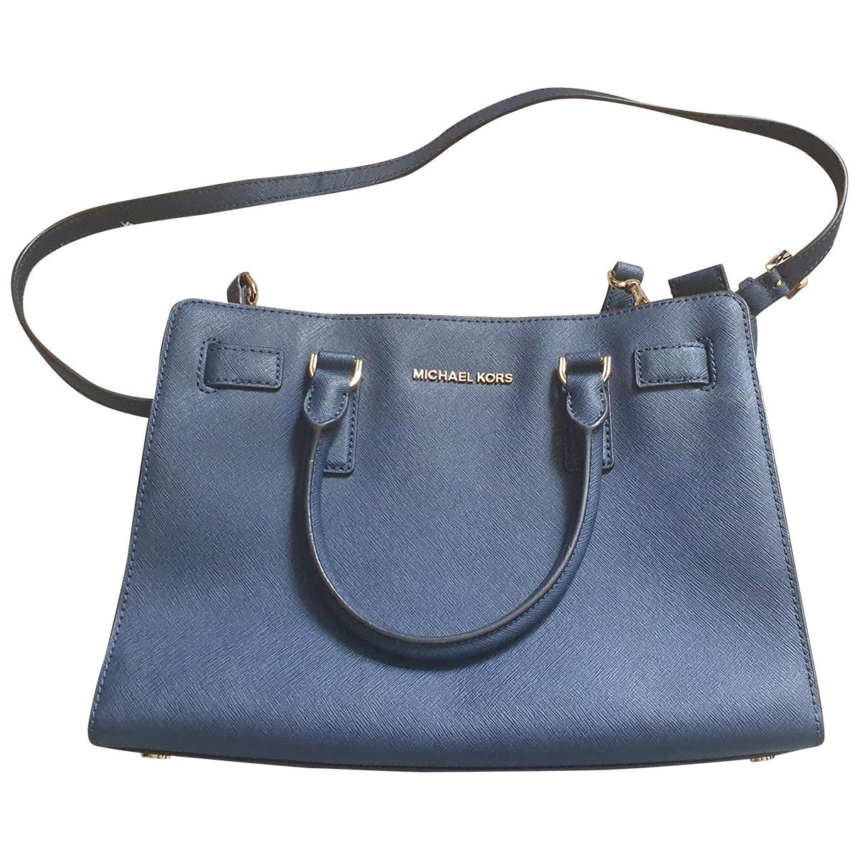 Michael Kors Dillon Blue Leather handbag for Women \N