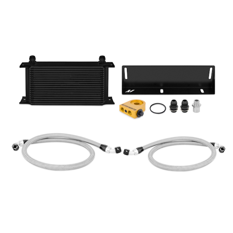 Mishimoto MMOC-MUS-79TBK Thermostatic Oil Cooler Kit (Black) Ford Mustang 1979-1993