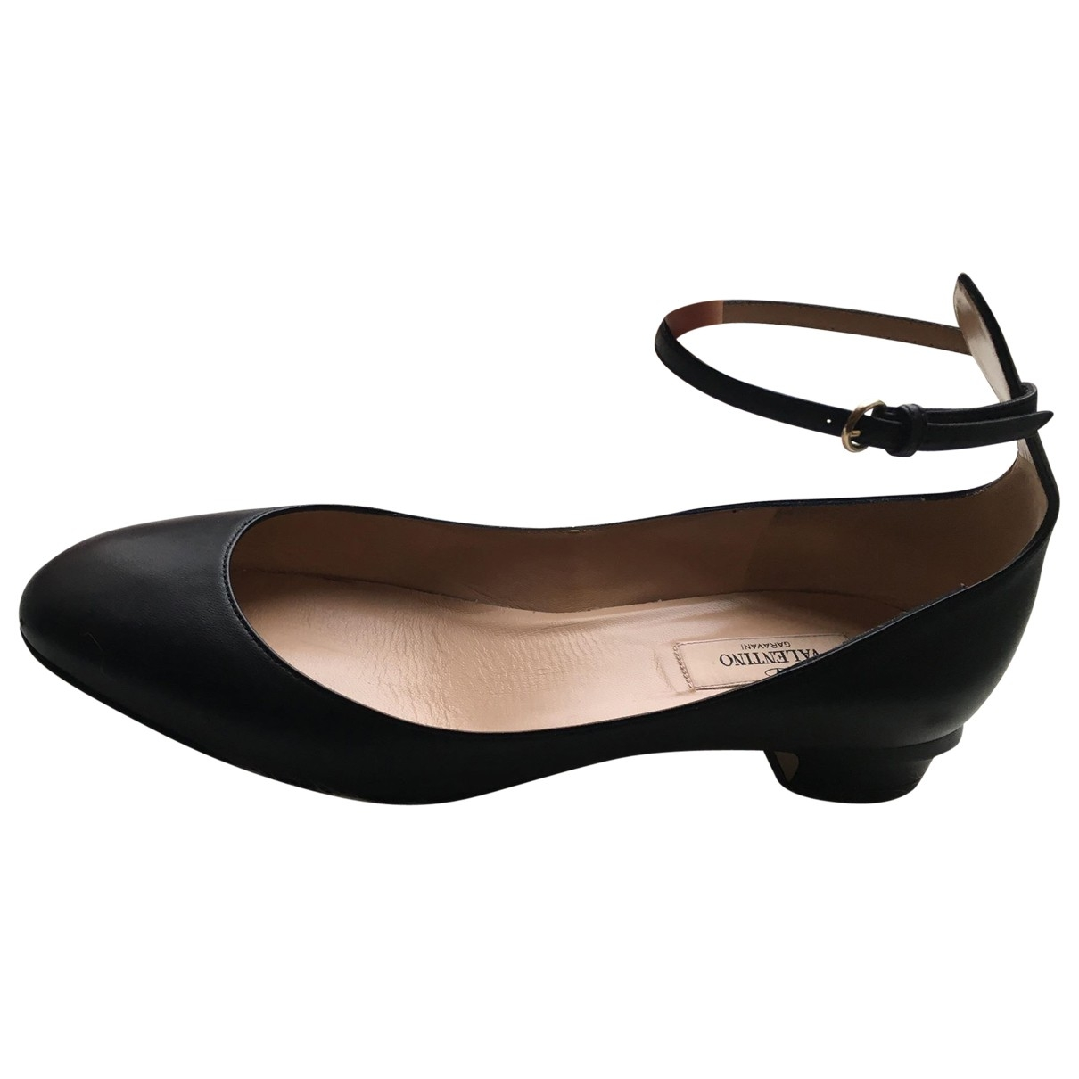Valentino Garavani - Ballerines Tango pour femme en cuir - noir