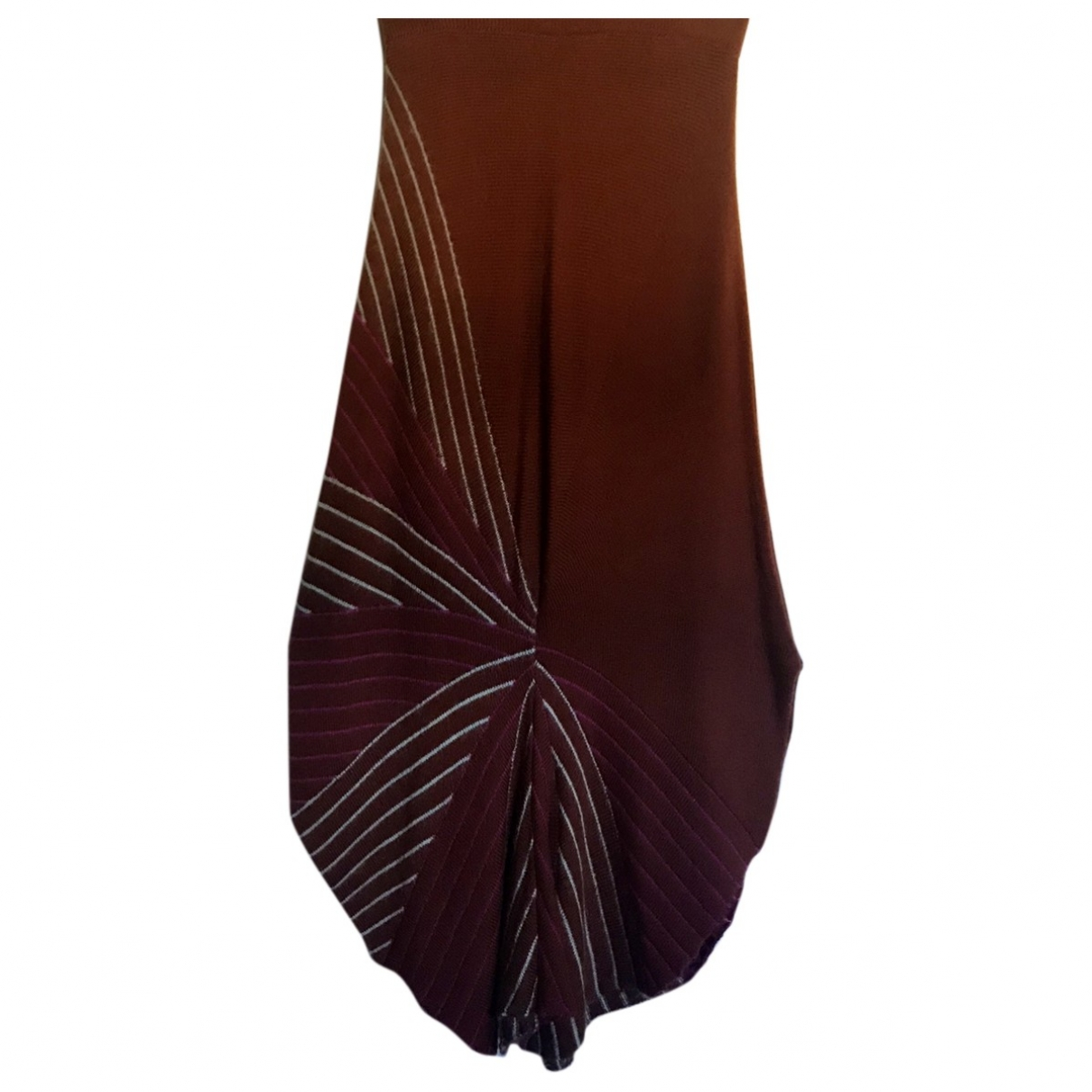 Non Signé / Unsigned \N Brown Wool skirt for Women 42 IT