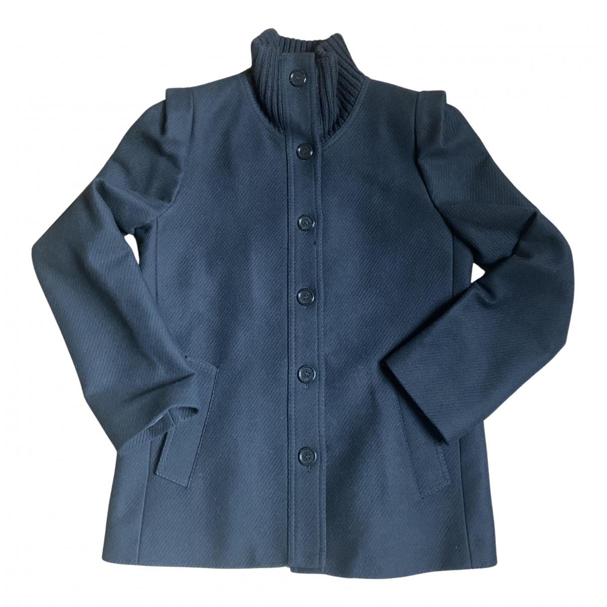 Maison Martin Margiela - Manteau   pour femme en laine - marine