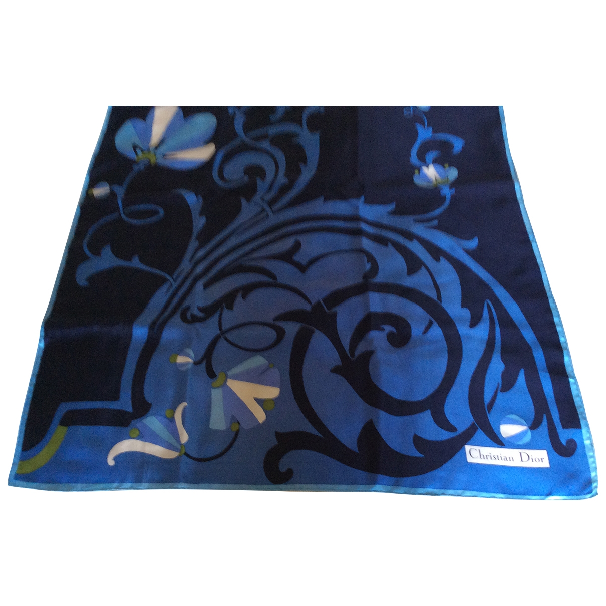 Dior \N Blue Silk Silk handkerchief for Women \N