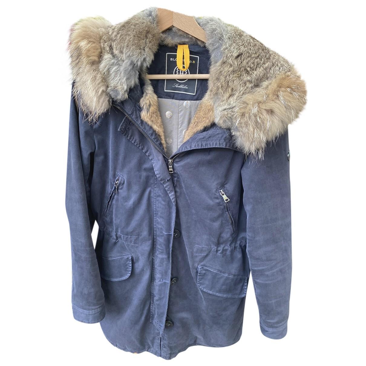 Blonde No.8 N Blue Cotton coat for Women L International