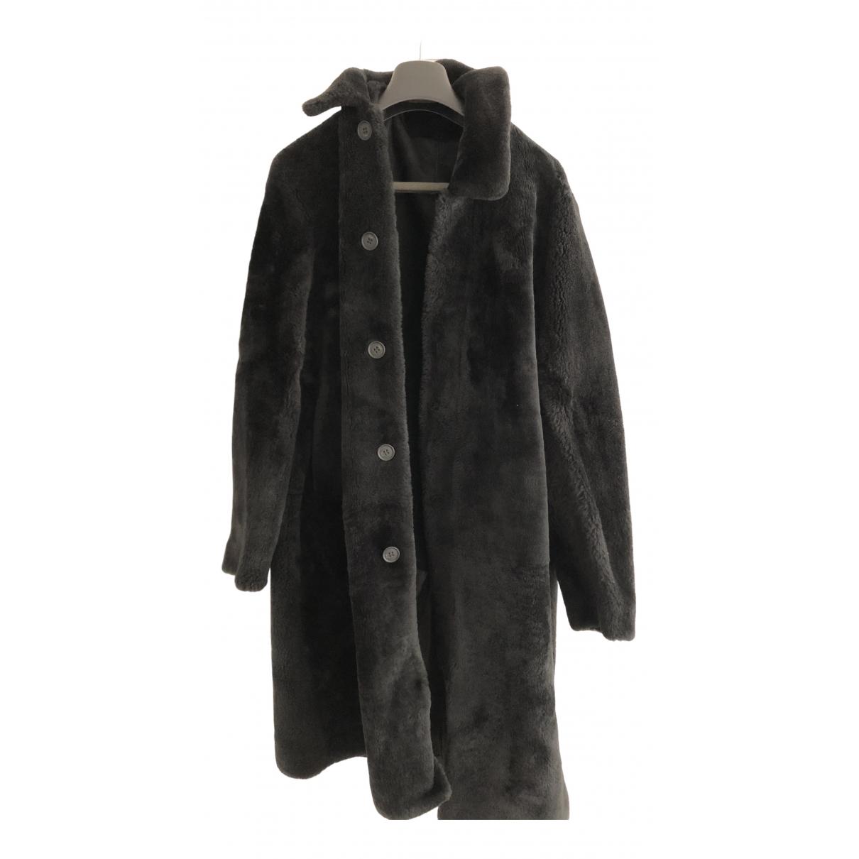 Fendi - Manteau   pour homme en mouton - bleu