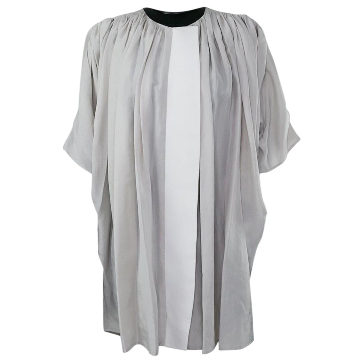 Balenciaga - Top   pour femme en soie - gris