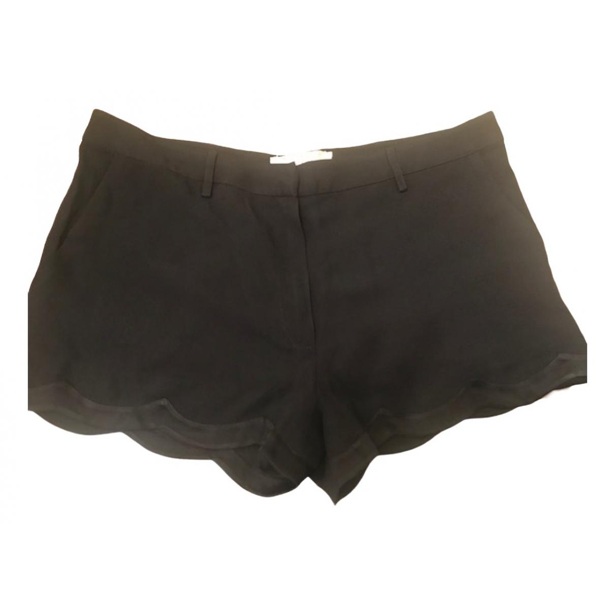 Vanessa Bruno Athe \N Shorts in  Schwarz Viskose
