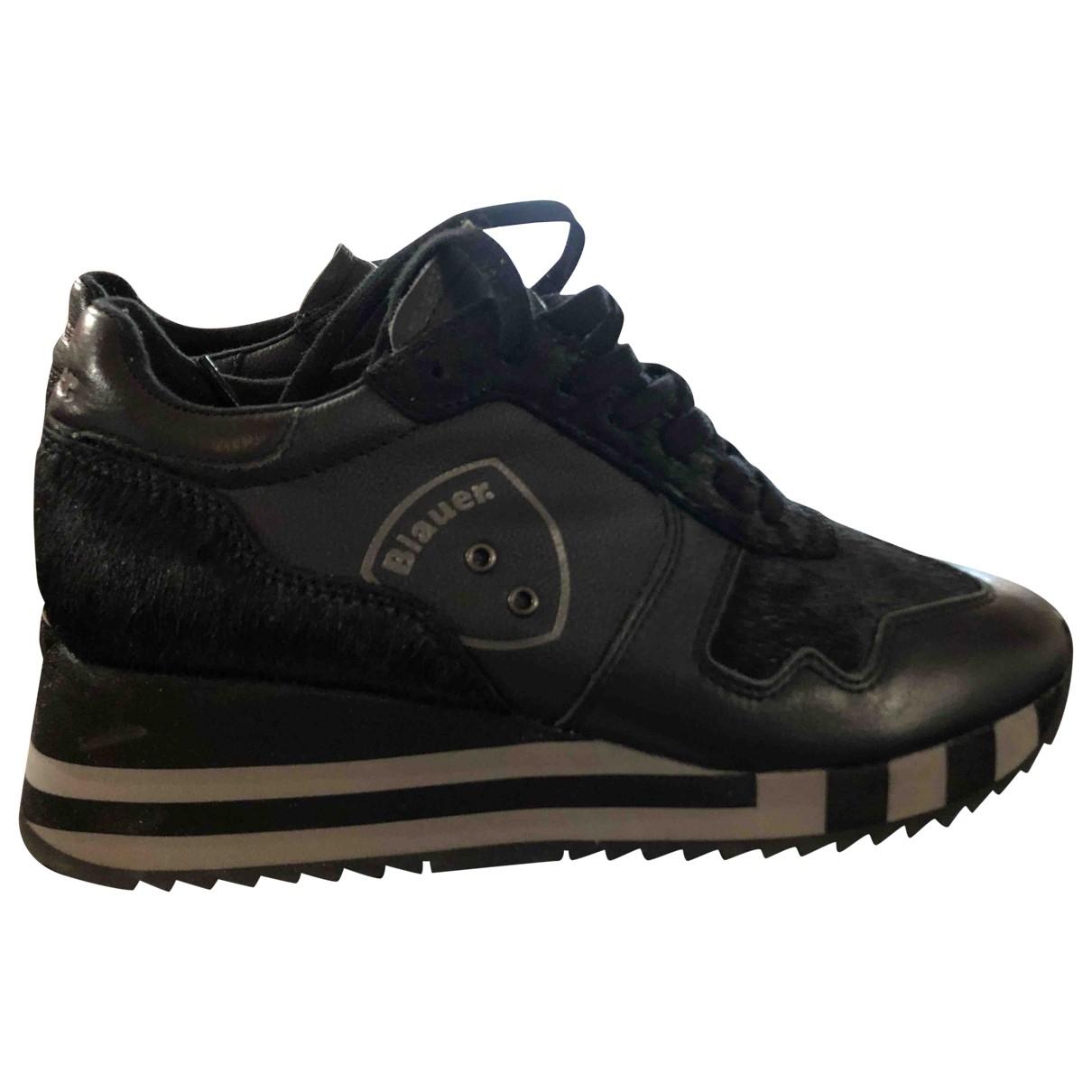 Blauer - Baskets   pour femme en cuir - noir