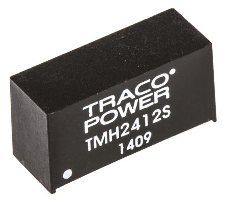 TRACOPOWER TMH 2W Isolated DC-DC Converter Through Hole, Voltage in 21.6 → 26.4 V dc, Voltage out 12V dc