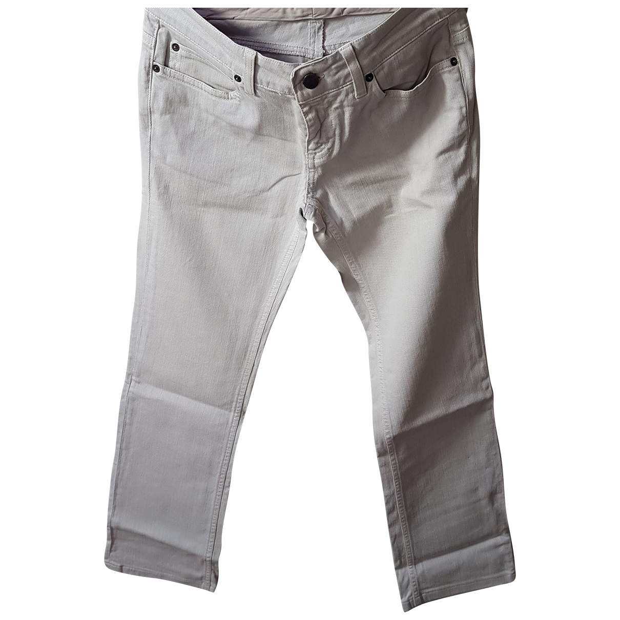 Stella Mccartney \N Beige Denim - Jeans Trousers for Women 42 IT