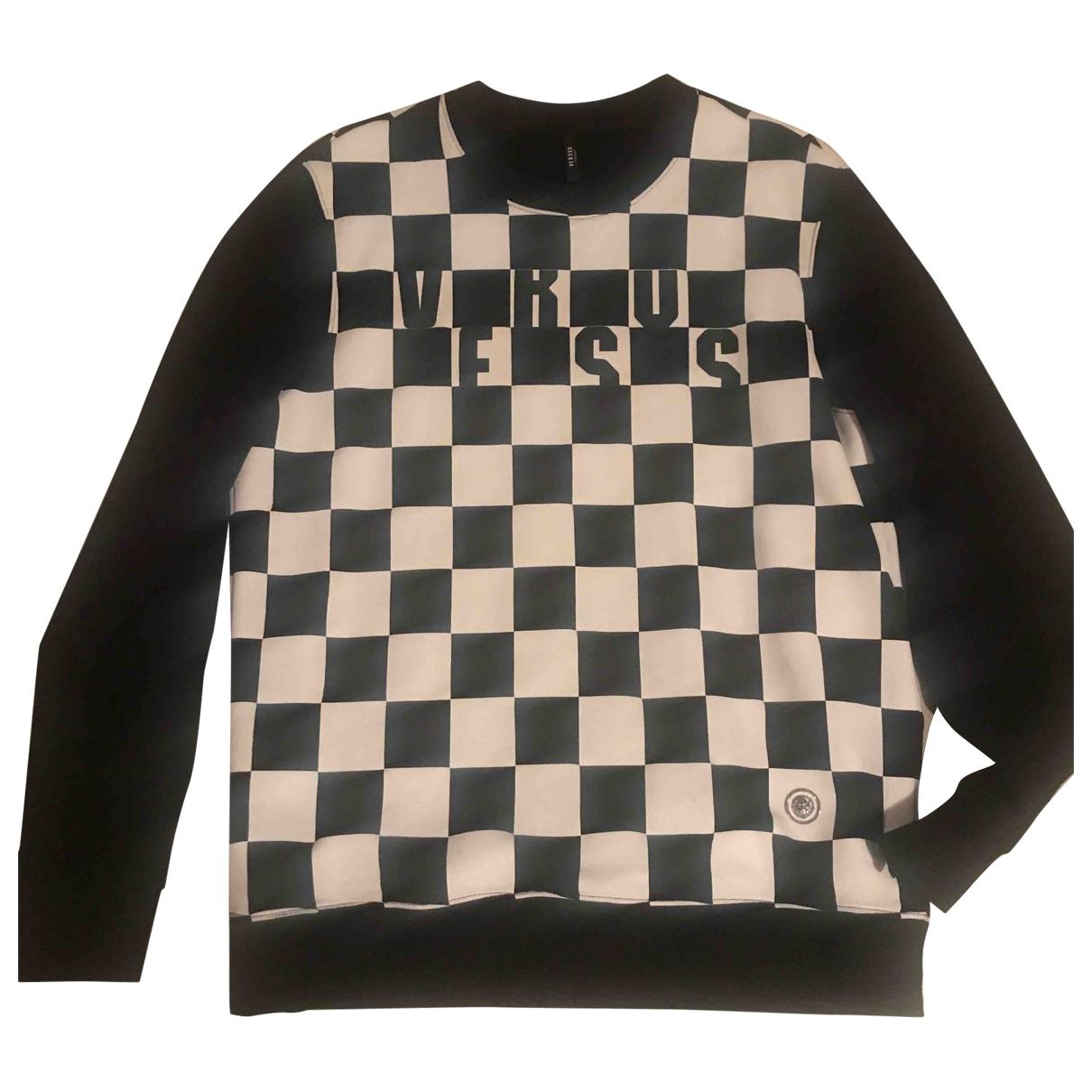 Versus \N Pullover.Westen.Sweatshirts  in  Schwarz Baumwolle