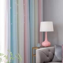1 pieza cortina con patron de rayas