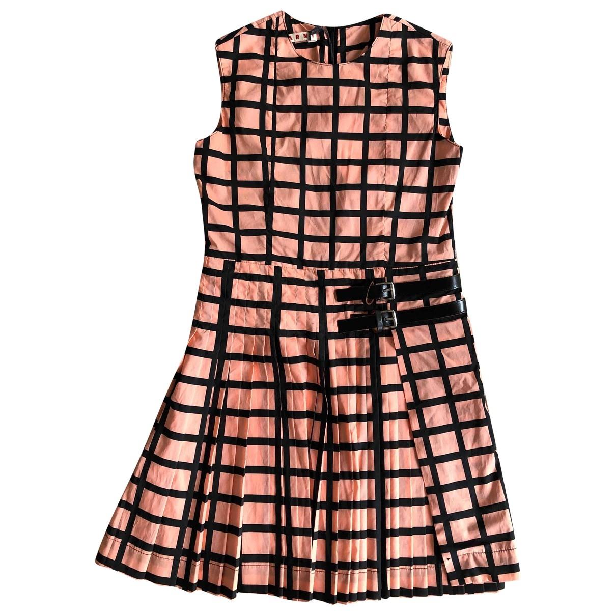 Marni \N Kleid in  Rosa Baumwolle