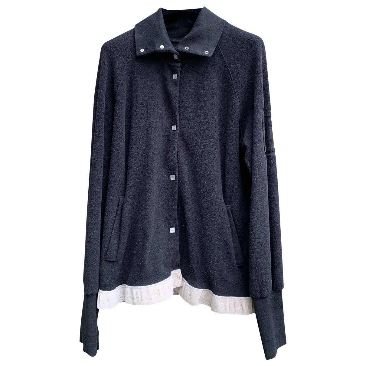 Chanel - Pull   pour femme en coton - noir