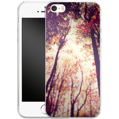 Apple iPhone 5s Silikon Handyhuelle - Above and Beyond von Joy StClaire