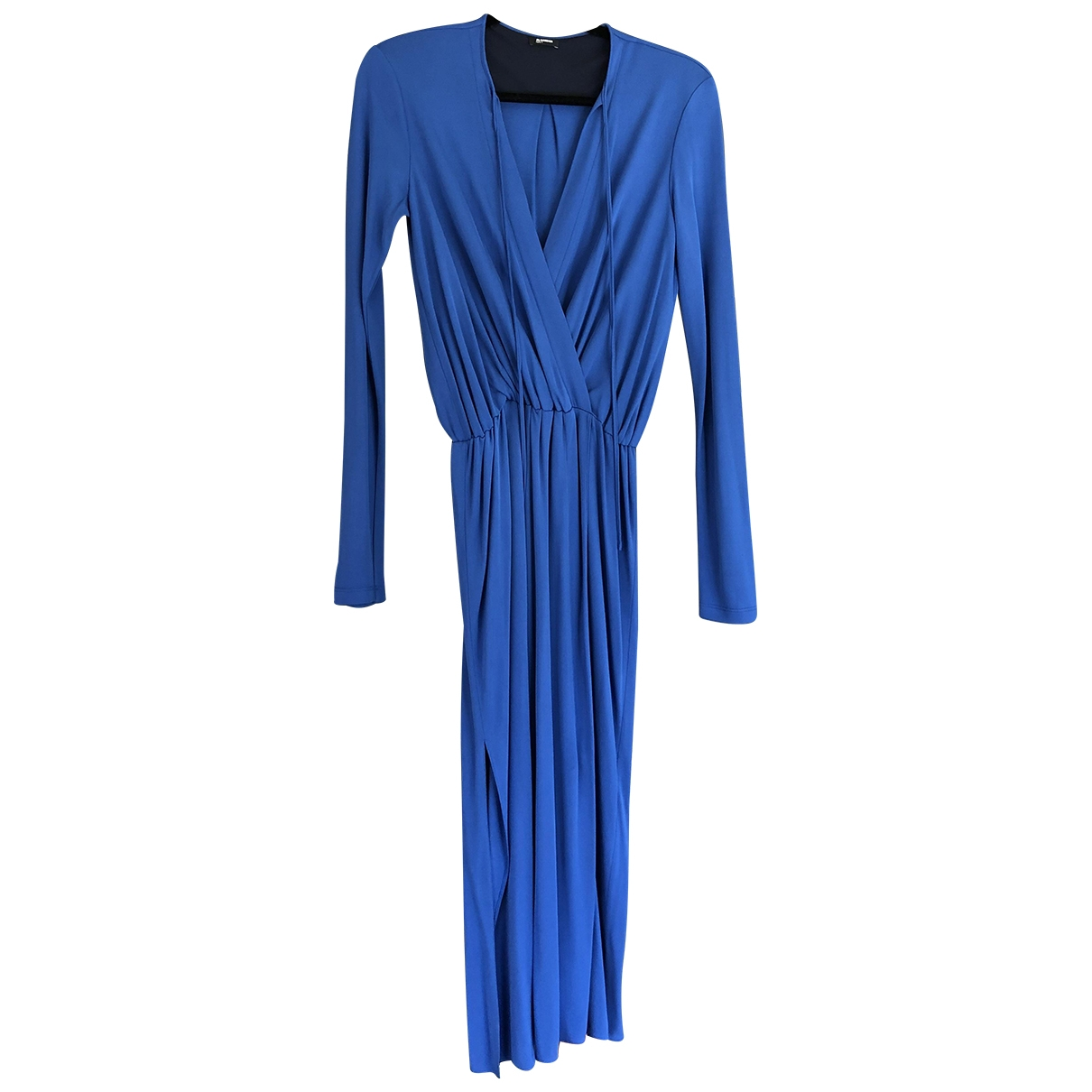 Jil Sander \N Kleid in  Blau Polyester