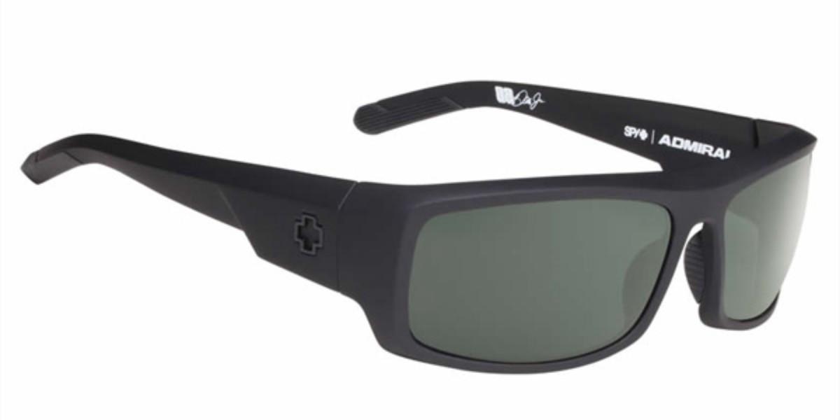 Spy ADMIRAL Polarized Soft Matte Black-Happy Gray Green Polar Men's Sunglasses Black Size 62