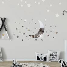 Moon & Star Mirror Sticker
