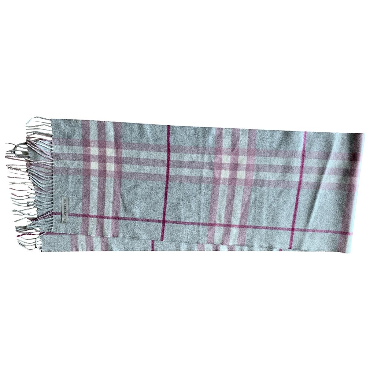 Burberry \N Grey Cashmere scarf for Women \N