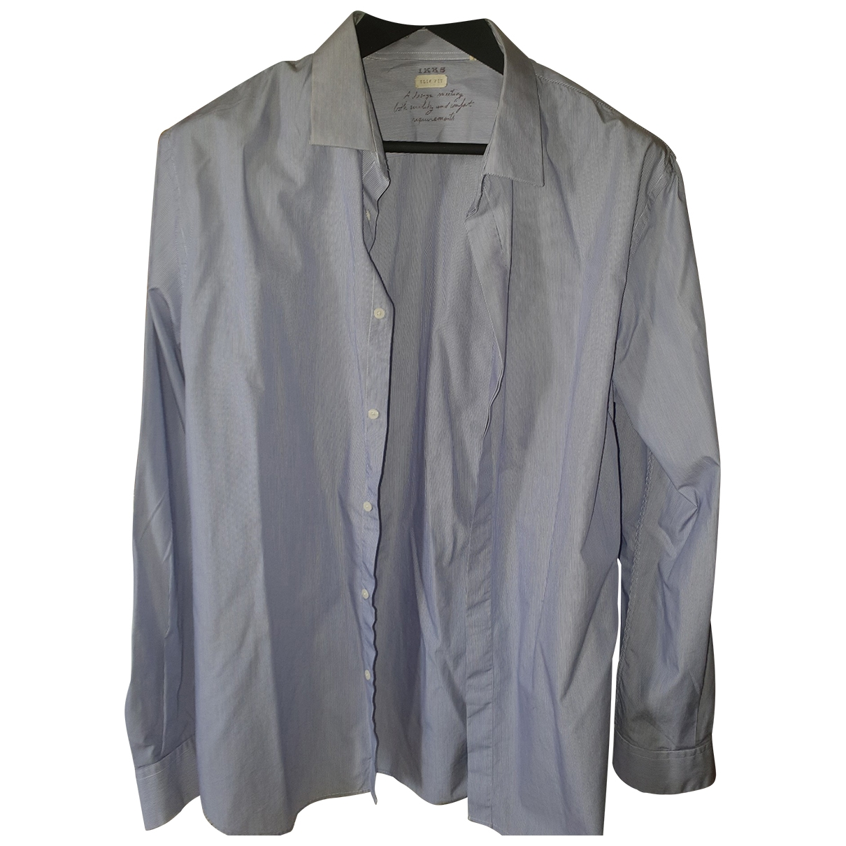 Ikks \N Blue Cotton Shirts for Men XXL International
