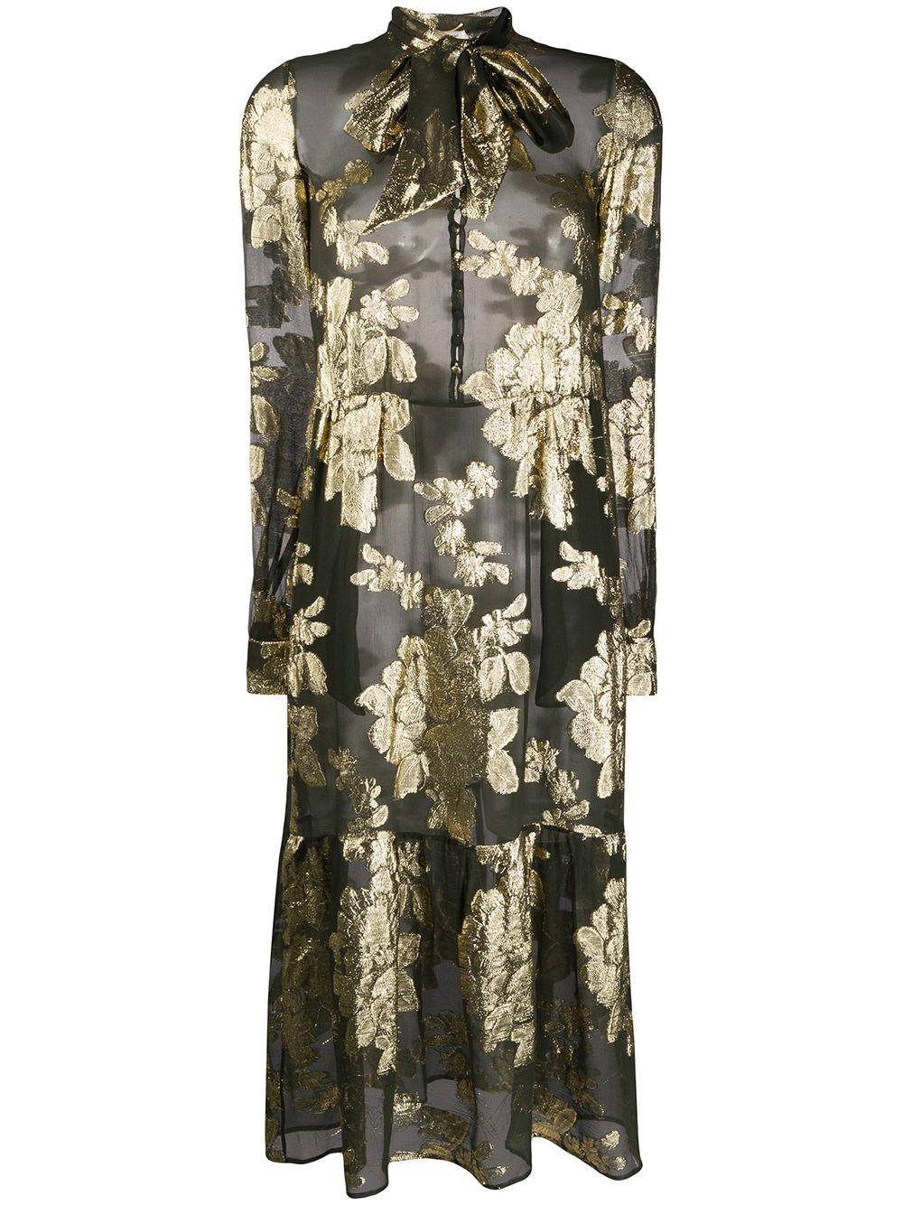 Flower Print Silk Dress