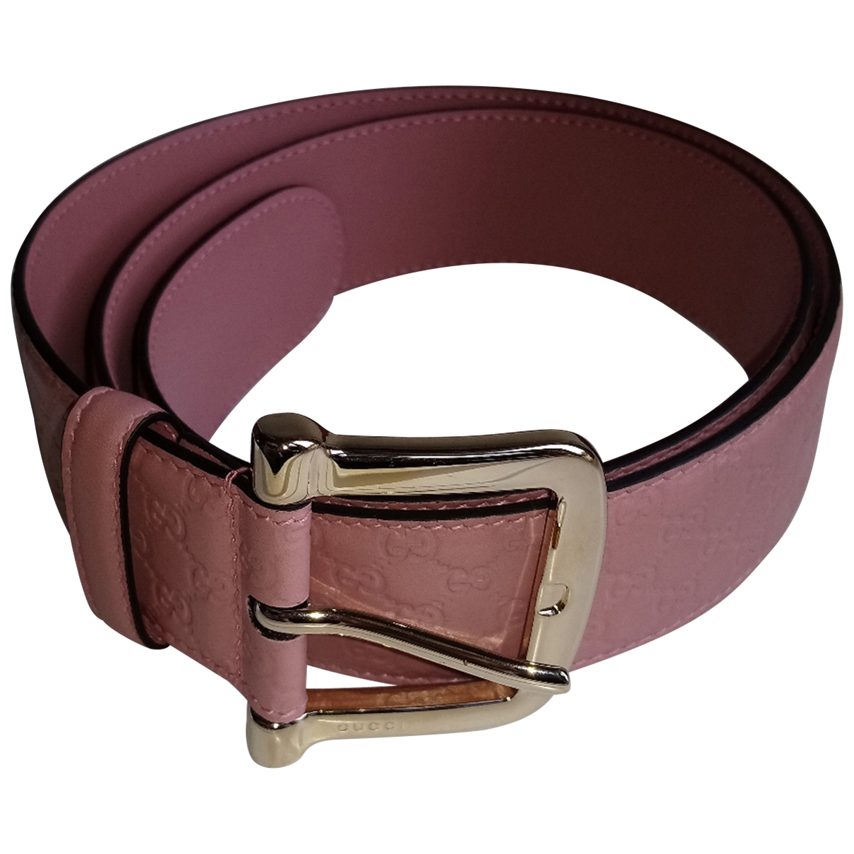 Gucci \N Pink Leather belt for Women S International
