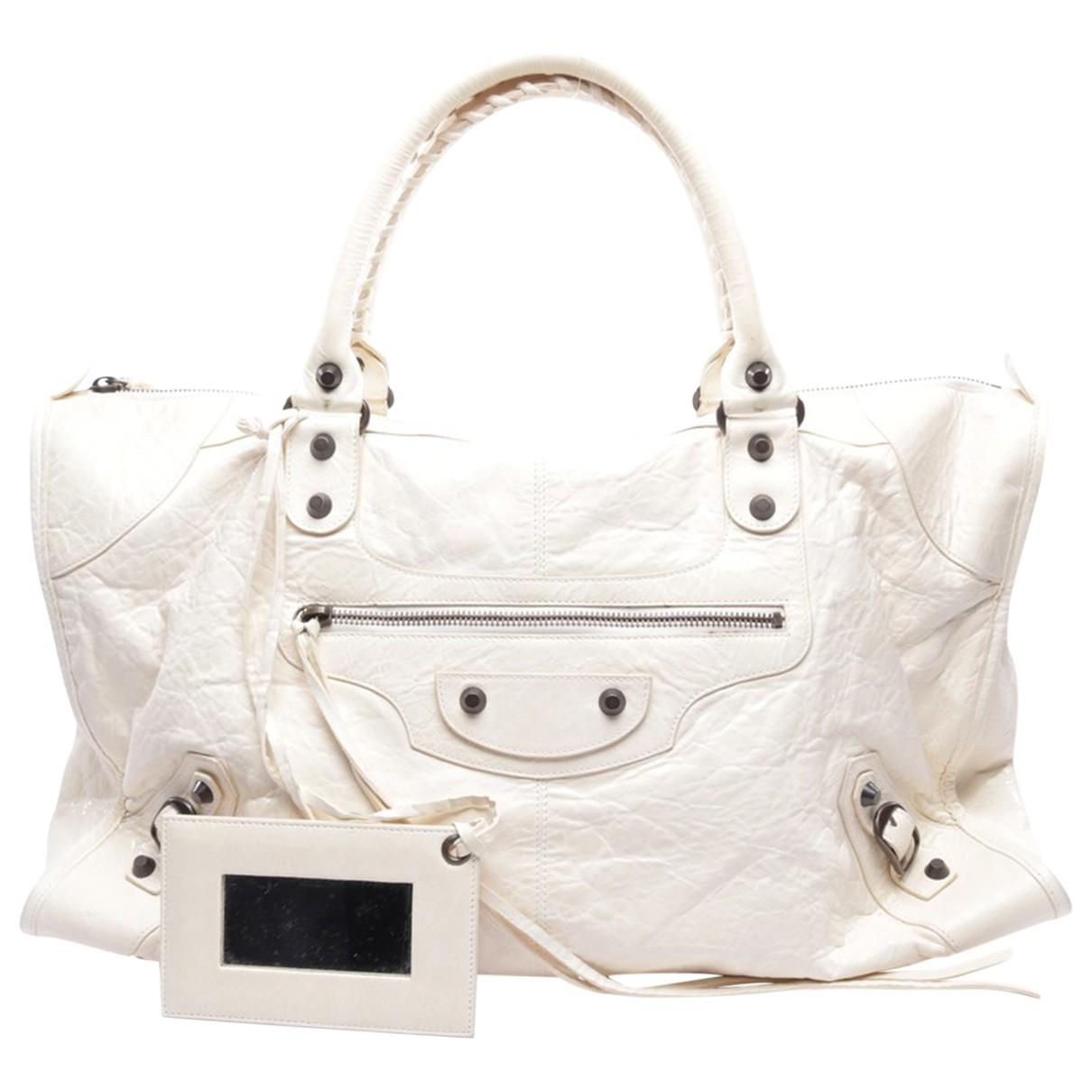 Balenciaga - Sac a main Work pour femme en cuir - blanc