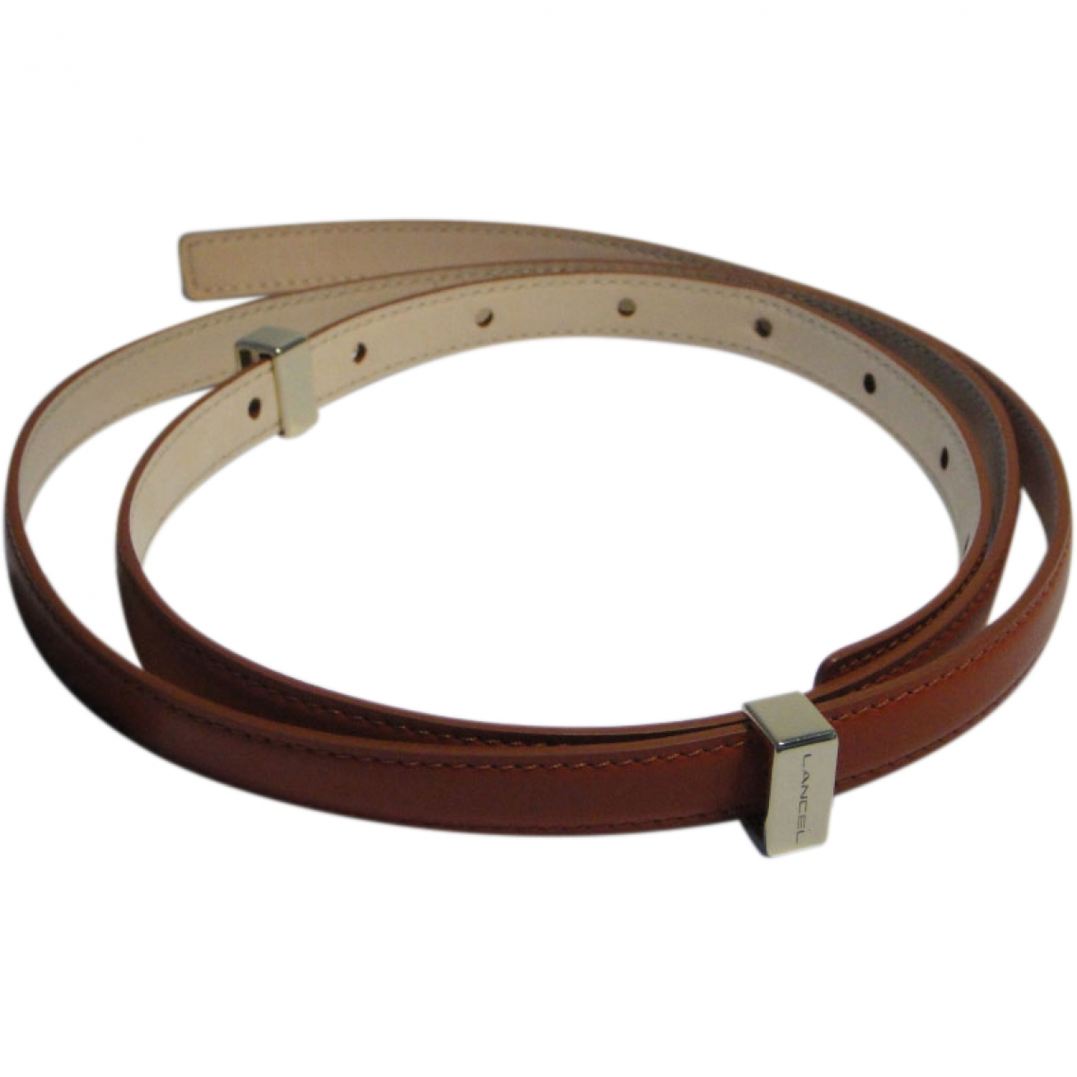 Lancel \N Brown Leather belt for Women 95 cm