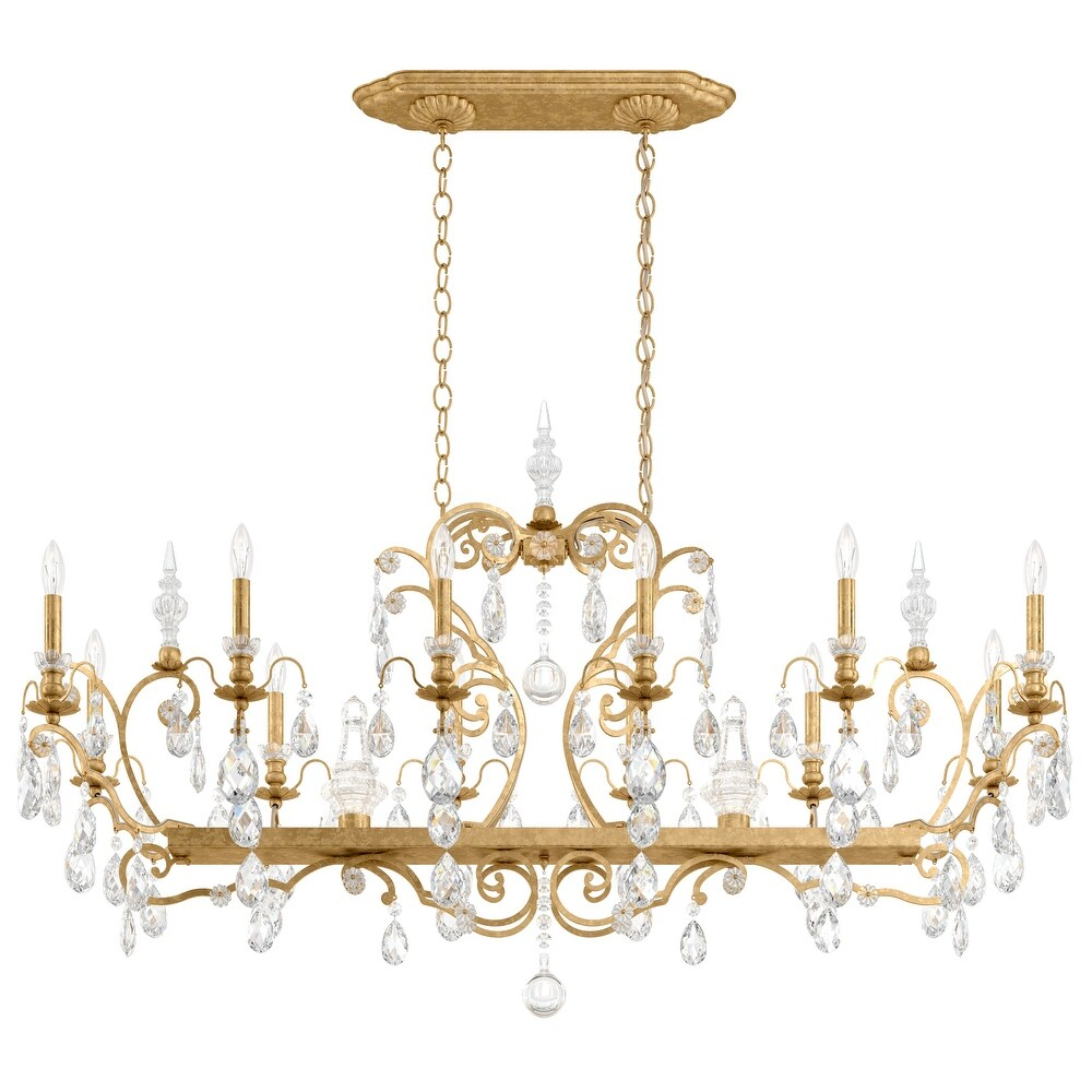 Renaissance 14 Light Chandelier Heirloom Gold Clear Heritage Crystal - One Size (One Size - Clear)