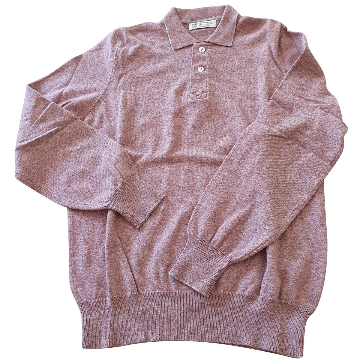 Brunello Cucinelli \N Pullover.Westen.Sweatshirts  in  Rosa Baumwolle