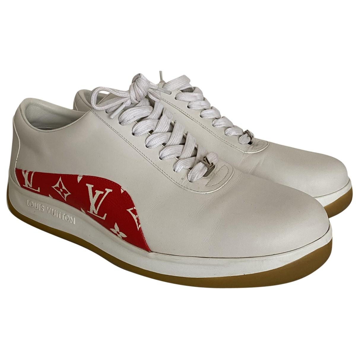 Louis Vuitton X Supreme - Baskets   pour homme en cuir - blanc