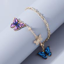 Hollow out Butterfly Decor Anklet