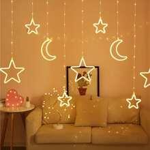 Moon & Star Decor Hanging String Light