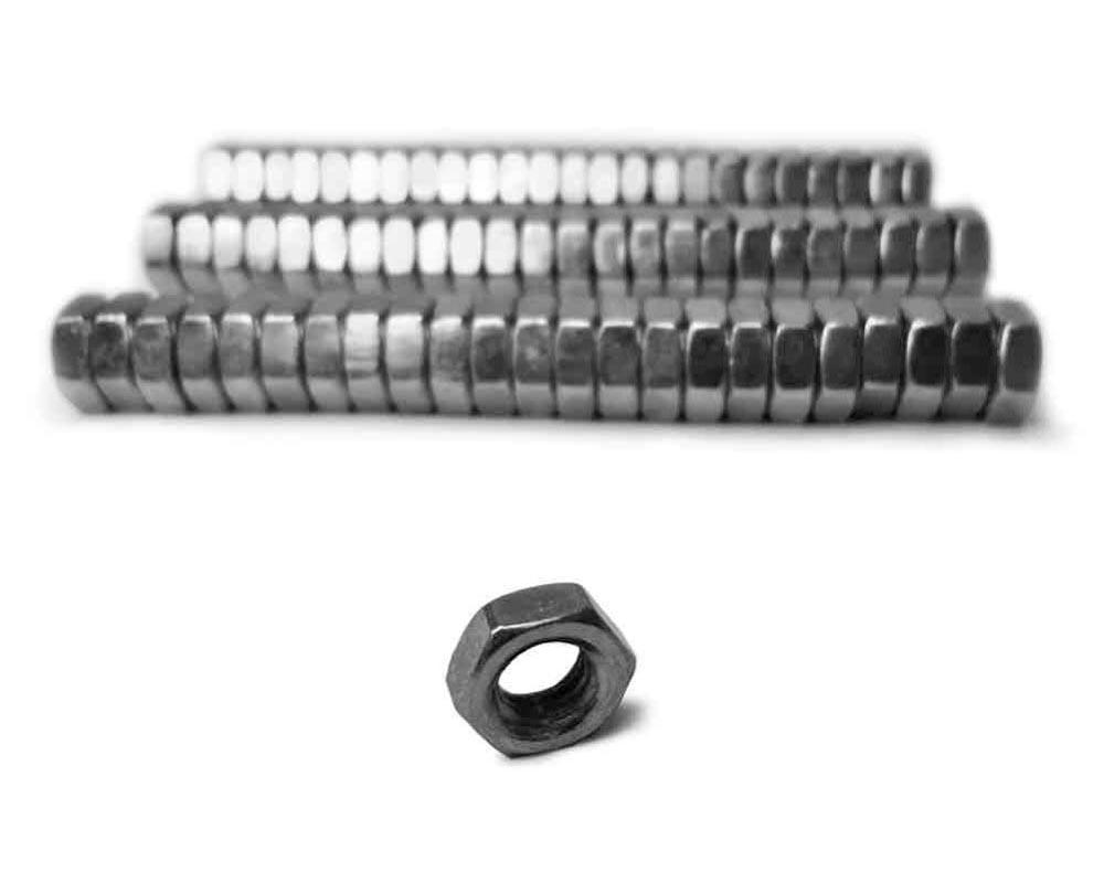 Steinjager J0014390 Nuts Bulk Jam Fasteners, Bulk 7/8-14 RH 72 Pack Grade 2 Plated Zinc Silver