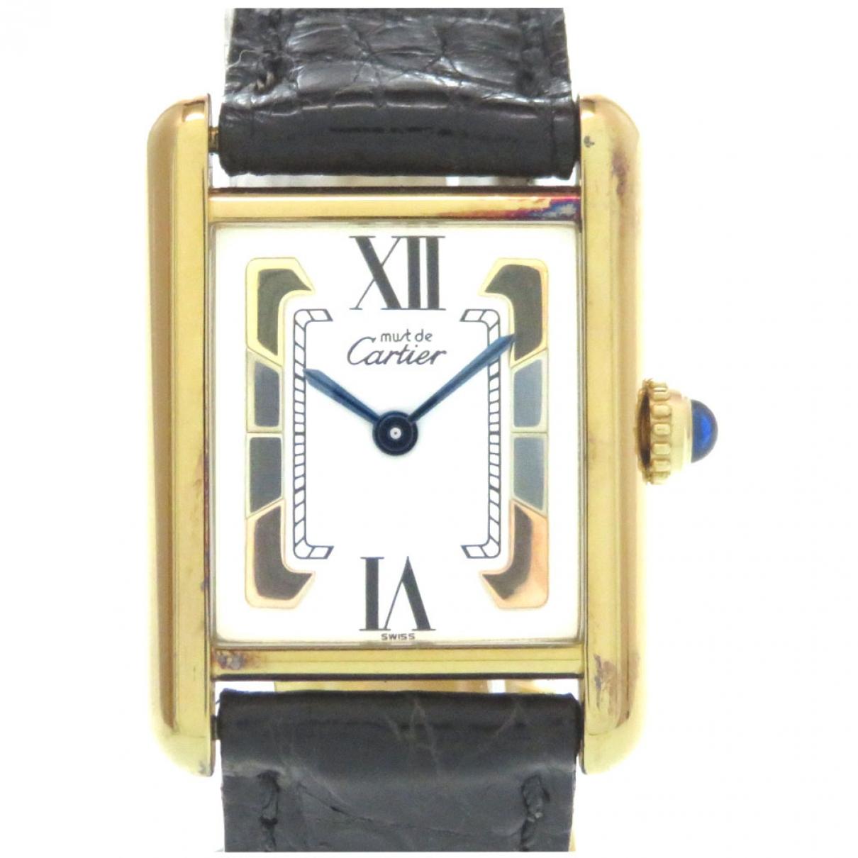 Cartier \N Uhr in  Weiss Vermeil