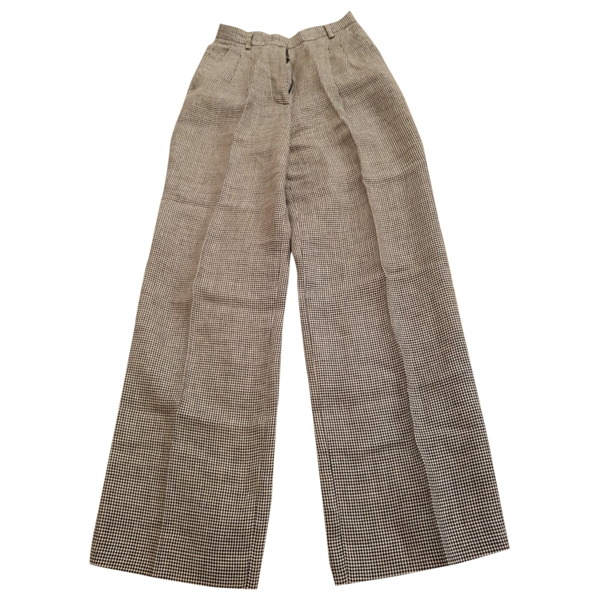Max Mara \N Black Linen Trousers for Women 36 IT