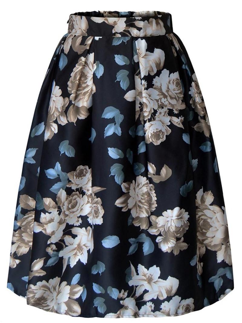 Ericdress Floral Full Print Women's Skirt