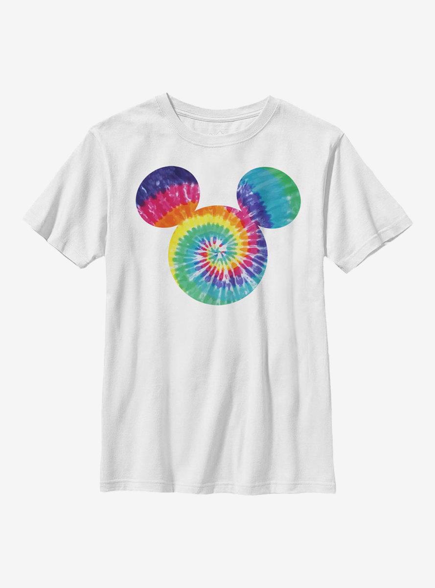 Disney Mickey Mouse Tie Dye Fill Youth T-Shirt