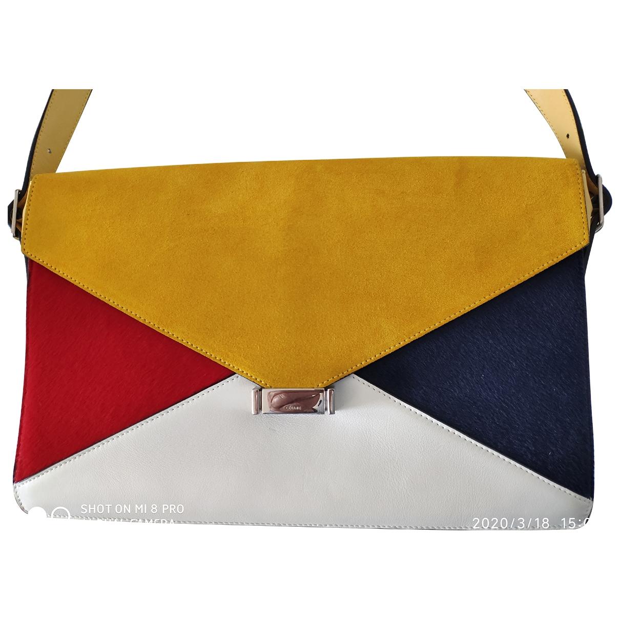 Celine - Pochette Diamond Clutch pour femme en suede - multicolore