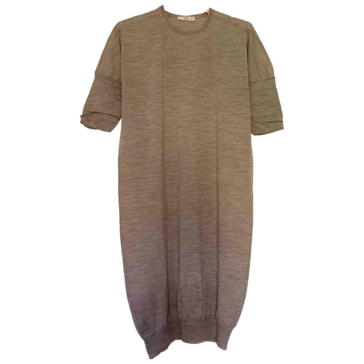 Prada \N Kleid in  Ecru Wolle