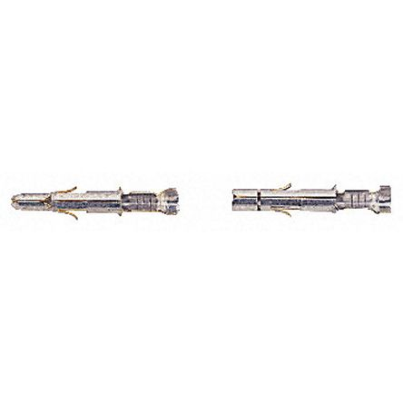 TE Connectivity , Commercial MATE-N-LOK Male Crimp Terminal Contact 18AWG 60618-4 (10)