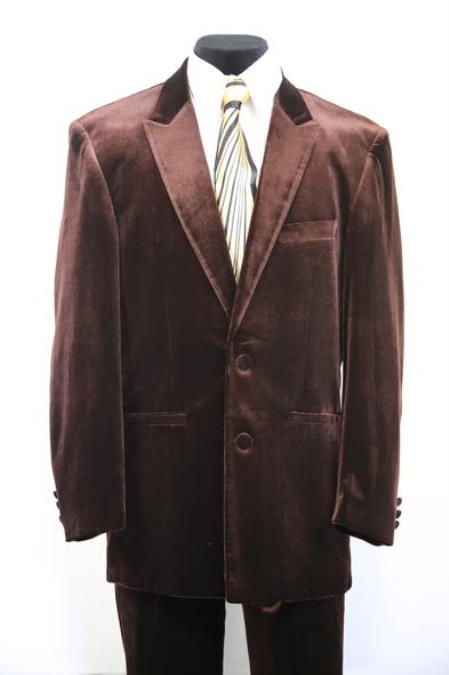 Harlem Velvet Brown Peak Lapel Zoot Suit